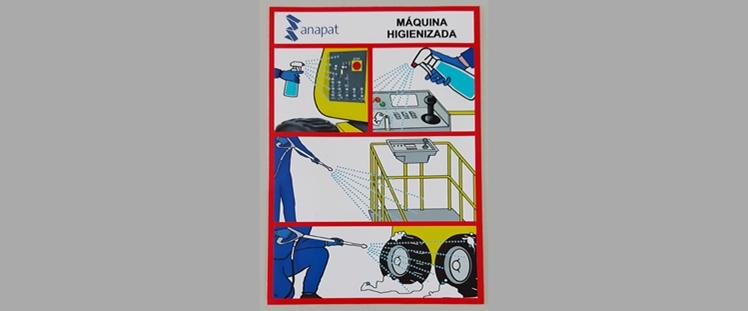 ANAPAT pone a disposición de sus socios pegatinas indicativas de PEMP higienizada